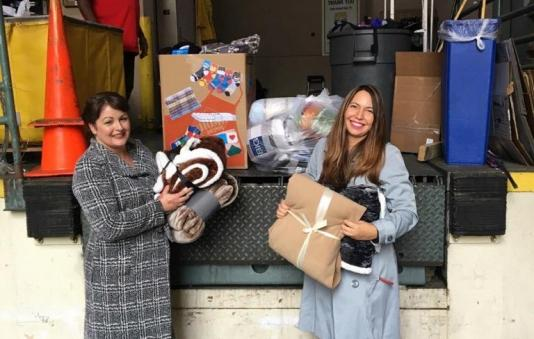 socks and blankets drive for the homeless