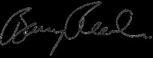 WPCCU CEO Barry Roach's signature
