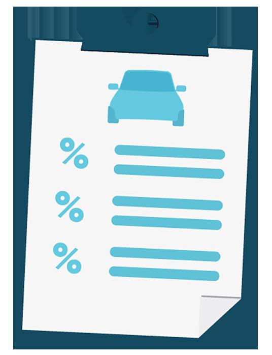 Checklist with car