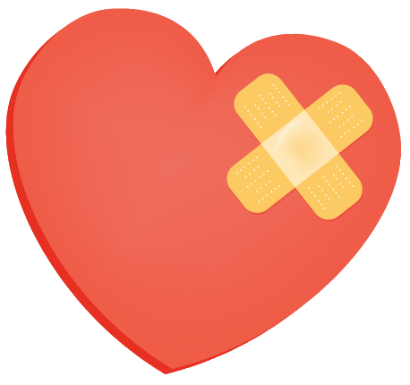 heart with bandaid