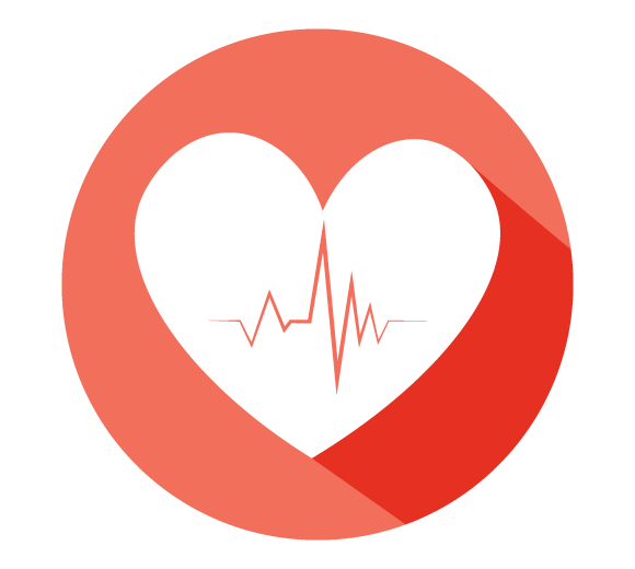 An illustration of a heart with a pulse line.